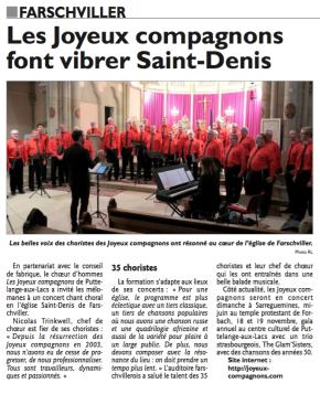 La presse en parle – R.L. Edition de Forbach du22/03/17
