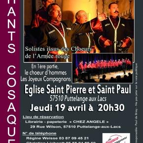 Concert avec «Les Grandes voix cosaques de Kouban»