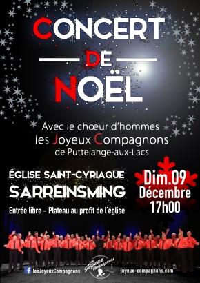 Concert de Noël le 09 décembre2018