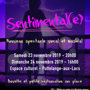 Sentimental(e) – Nouveau spectacle !